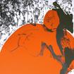 Izka in orange, serigraphy, 100x70 cm, 2003